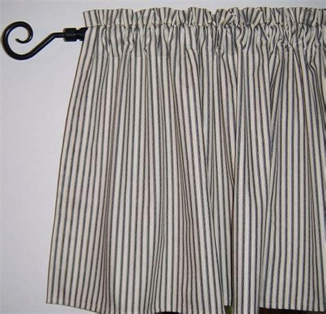 window valance ticking stripe kitchen valance by
