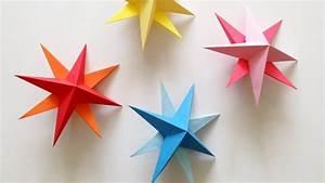 DIY Hanging Paper 3d Star Tutorial for Christmas, Birthday
