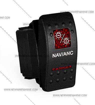 nav anc rocker switch carling contura ii illuminated  wire marine