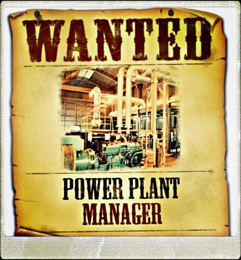 power plant manager job opportunity liberia