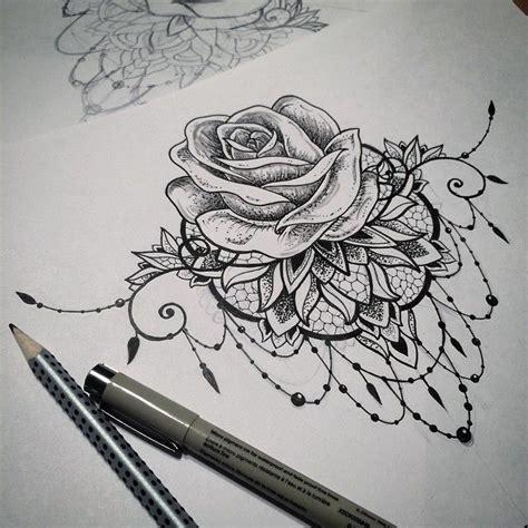 image result  mandala rose tattoo tattoos tattoos