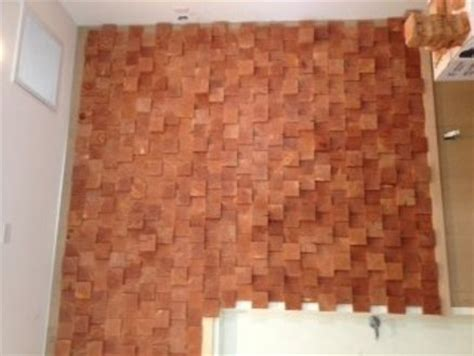 stacked 5 quot wood block wall end grain by jamescasegoods