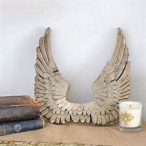 249 best french home accessories images on pinterest for Best brand of paint for kitchen cabinets with wooden angel wings wall art