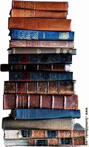 Stack Of Old Books  Light Background