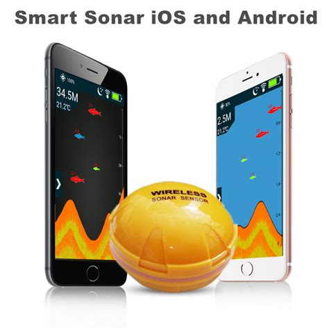 wireless bluetooth smart fish finder  ios  android