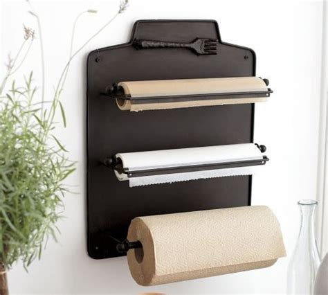 cucina wall mount kitchen roll organizer traditional