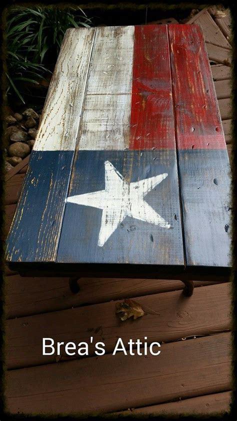 texas flag coffee table   vintage folding table