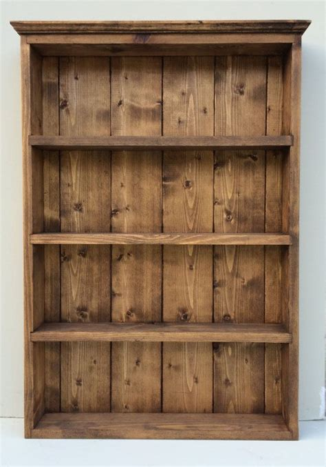 Spice Rack Wall Shelf by Rustic Handmade Spice Rack Organiser Wall Display 65cm