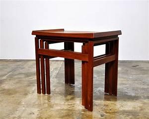 Select, Modern, Danish, Modern, Teak, Nesting, Tables