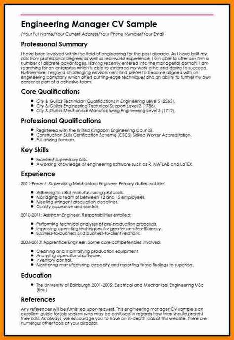 Muster Cv by 7 Curriculum Vitae Engineer Theorynpractice