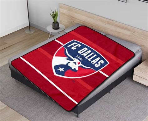 FC Dallas MLS Soccer Team Fleece Blanket Quilt - Fear Fish