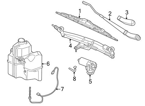 Ford Wiper Linkage Diagram by 2007 Ford Five Hundred Windshield Wiper Linkage