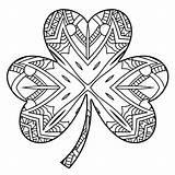 Shamrock Coloring Pages St Printable Patricks Adults Saint Patrick Adult Irish Sheets Clover Mandala Colouring Leaf Scribblefun Four Pattys Printables sketch template