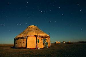 Yurt in Moonlight, Kyrgystan | Camp-In-Style