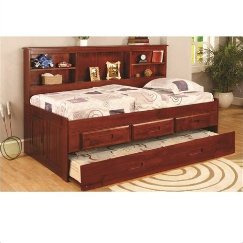 Daybed Bookcase by Bookcase Daybed With Trundle And Drawers Ebay
