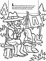 Coloring Levi Pages Strauss Gold Rush Crayola Mine Sketch Template Popular sketch template