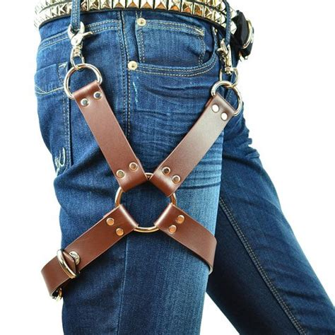 leather thigh leg harness  geek gift