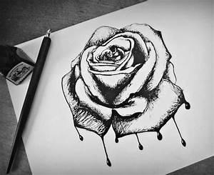 drippy rose | Drawings | Pinterest
