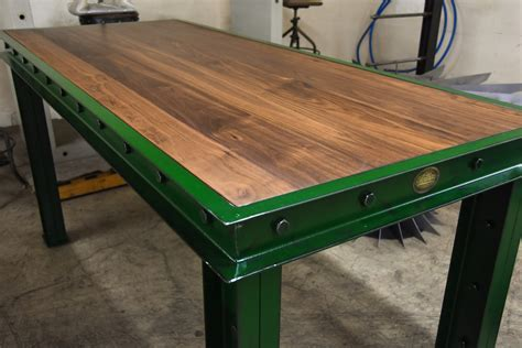 Green Firehouse Bar Tables ? Model #FH11 ? Vintage