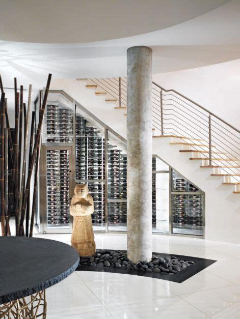 contemporary white wine cellar luxe interiors design