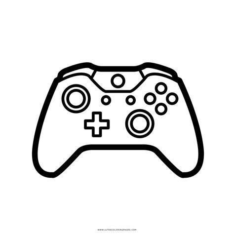 xbox game controller coloring pages