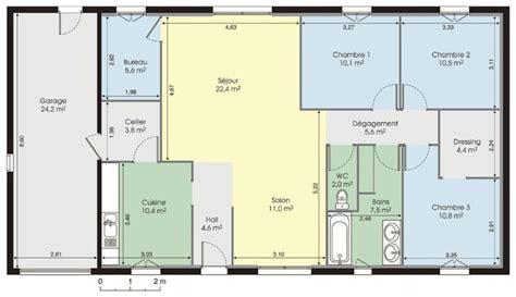 plan maison plain pied 2 chambres gratuit cuisine modele plan maison plein pied gratuit plan de