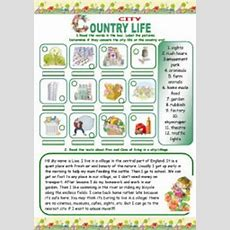Free City And Countryside Worksheets Country For First Grade Free Best Free Printable Worksheets