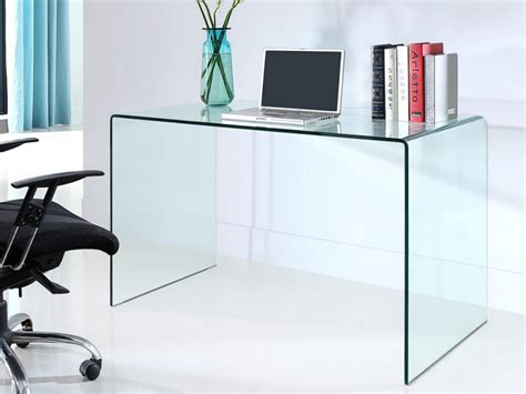 but bureau verre bureau elstron verre trempé 12mm transparent 120 cm