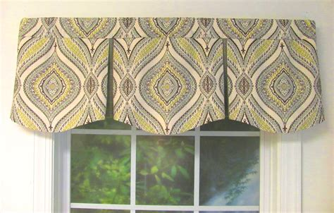 bay window curtain rod pleated valances patterned solid colored