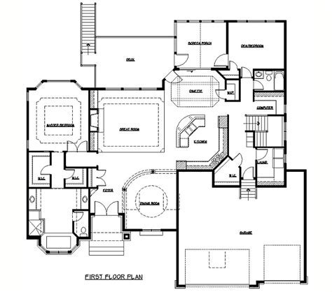 Rambler Floor Plans   Plan #205314   TJB Homes