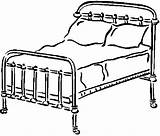 Coloring Bed Bedroom Pages Furniture sketch template