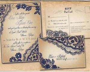 printable vintage wedding invitations template navy blue With free printable navy blue wedding invitations
