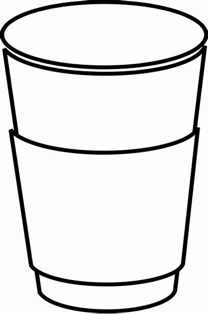 Coffee Cup Outline Cartoon Paper Clipart Crafts
