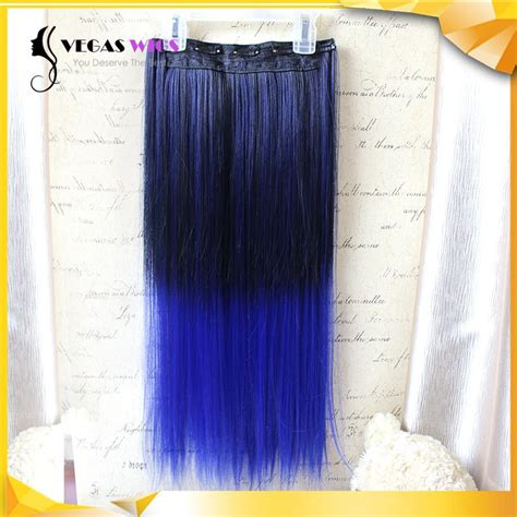 Vegaswigs 5 Clips Heat Resistant Fiber Long Ladies