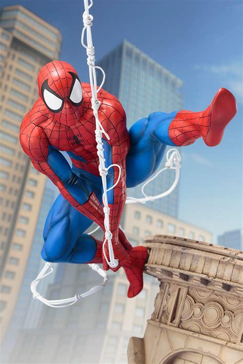 marvel universe spider man webslinger artfx statue