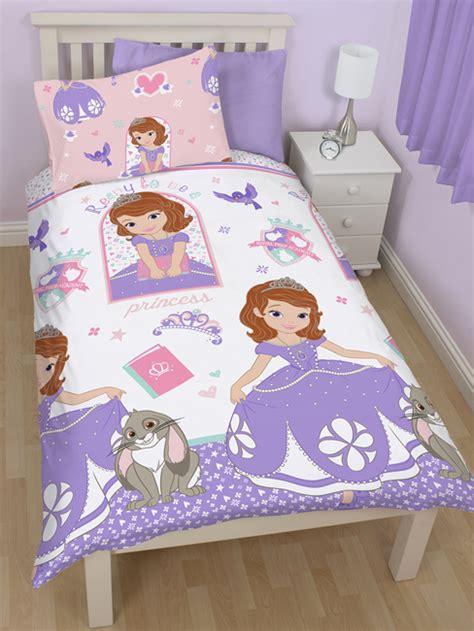 princesse sofia housse de couette parure de lit 135 x 200 cm sofia decokids tous leurs h 233 ros