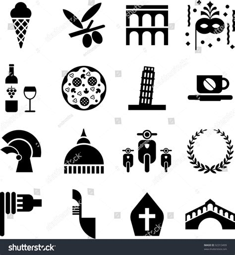 italy pictograms stock vector  shutterstock
