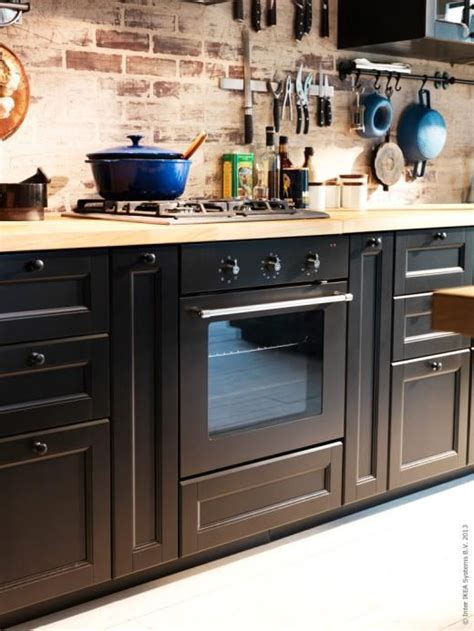ikea cuisine method ikea rustic with method in laxarby black kitchen