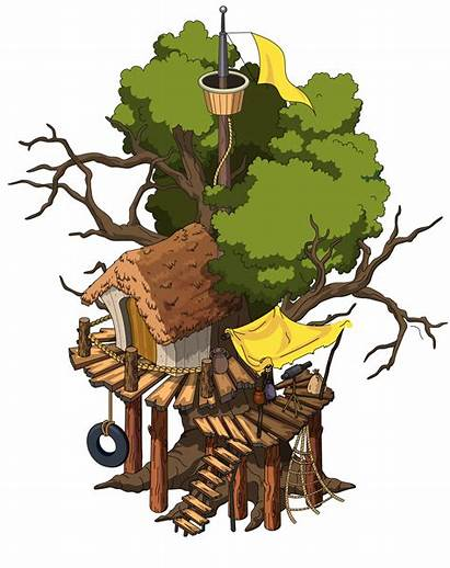 Tree Guy Roots Brown Clipart Quest Lost