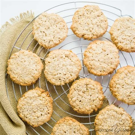 Add 1 cup of the flour to the wet mixture. Sugar-free Oatmeal Cookies (Low Carb, Gluten-free)