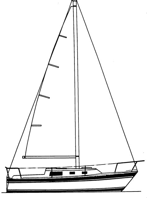 How To Draw A Keelboat by Drawn Sailing Boat Sailor Boat Pencil And In Color Drawn