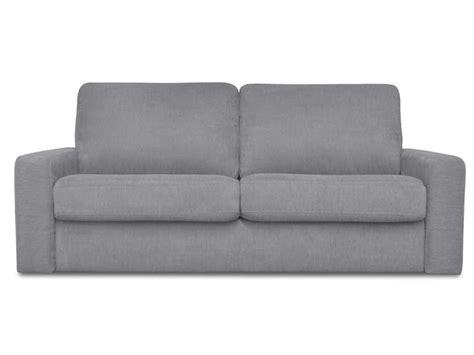 canapé convertible 3 places en tissu samia coloris gris