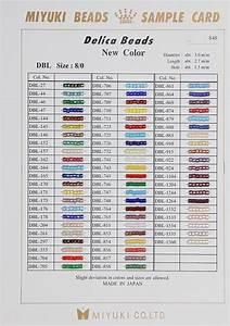 Miyuki Delica Beads Color Chart Miyuki Delica Bead Sample Cards