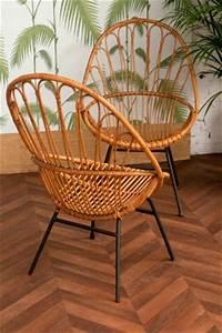 Chaise Rotin Metal : chaise en rotin vintage mobilier en rotin fauteuil en ~ Teatrodelosmanantiales.com Idées de Décoration