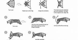 koi fish diagram 5 of 5 money origami dollar bill art With origami koi diagram