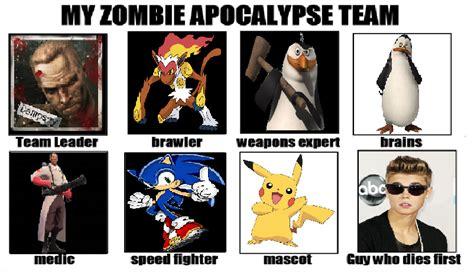 Zombie Apocalypse Team Meme - pin apocalypse team meme generator my zombie facebook on pinterest