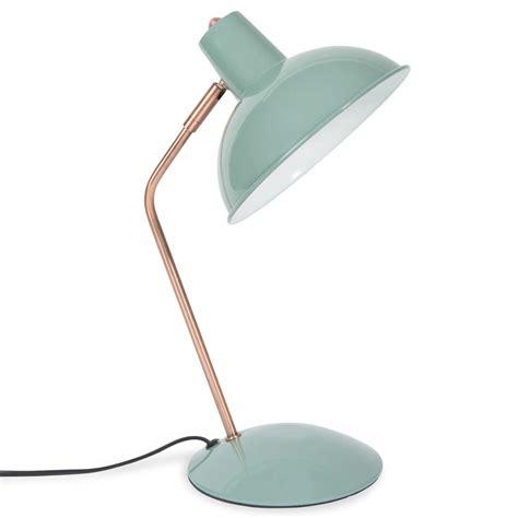 lampe de bureau en metal bleu   cm imany maisons du monde