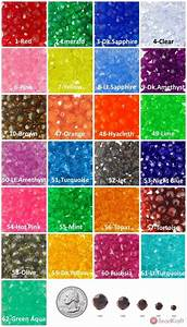 Rhinestone Size Chart Mm Beadkraft 12mm Faceted Beads Transparent Choose Color
