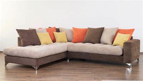 h et h canapé canapé d 39 angle à gauche maxi corfu marron beige orange jaune