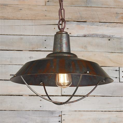 rustic kitchen light fixtures rustic copper pendant with grill shades of light 5004